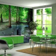 Приваблива оздоба кухонних стін - фотошпалери на кухню